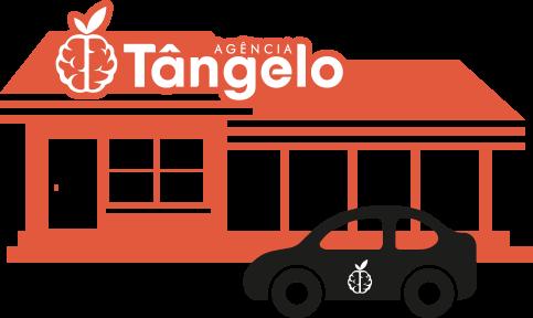 Fachada e plotagem de veículo com Identidade Visual - Agência Tângelo