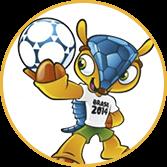 Mascote da marca Copa do Mundo do Brasil - Agência Tângelo