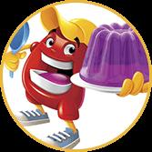 Mascote da marca Gelatina Royal - Agência Tângelo