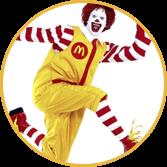 Mascote da marca McDonalds - Agência Tângelo