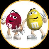 Mascote da marca M&Ms - Agência Tângelo