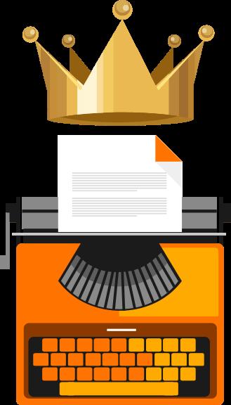 Criação de Conteúdo Máquina de Escrever - Agência Tângelo
