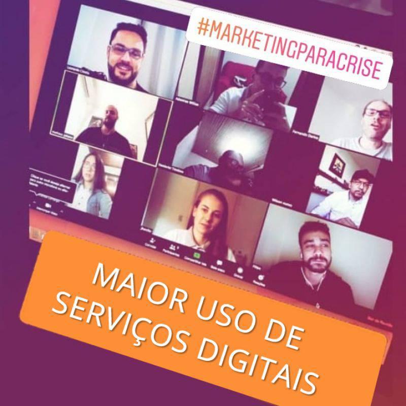 Série MARKETINGPARACRISE - Agência Tângelo - maior uso de serviços digitais
